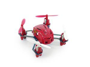 Hubsan Q4 H111 Nano 4-Channel RC Quadcopter with 2.4Ghz Radio System - Red