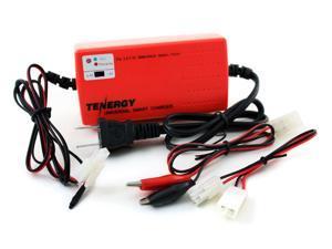 Tenergy Smart Universal Charger for NiMH/NiCD Battery Packs: 2.4V - 7.2V (Red)
