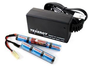 Combo: Tenergy 8.4V 1600mAh Butterfly Mini NiMH Airsoft Battery Pack + 8.4V-9.6V NiMH Smart Charger