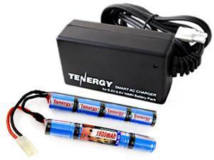 Combo: Tenergy 9.6V 1600mAh Butterfly Mini NiMH Battery Pack + 8.4V-9.6V NiMH Smart Charger