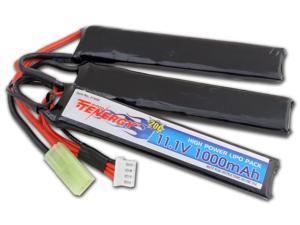 Tenergy 11.1V 1000mAh Li-Po Airsoft Crane Stock Battery Pack