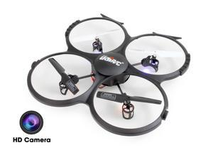 UDI U818A-HD (2015 The Latest Version) 2.4GHz 4 CH 6 AXIS Headless RC Quadcopter w/ HD Camera, Extra ...