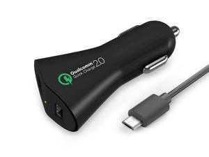Tenergy 30W 2-Port Adaptive Fast USB Car Charger w/ Qualcomm Quick Charge 2.0 & Smart Detect Technology