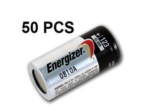 Energizer Lithium CR123A 3V Photo Lithium Battery, 50 pieces