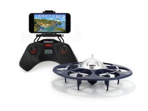 UDI U845 Voyager Wifi FPV UFO Hexacopter RC Drone with Real-time Aerial Photography 720P HD Camera - App Controllable by Smart Devices