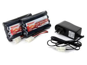 Tenergy 9.6V 2000mAh NiMH Battery Packs for RC Car, Robots, Security, 2-Count + Simple Pack Charger