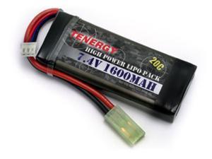 Tenergy LiPO 7.4V 1600mAh 20C Airsoft Battery Pack