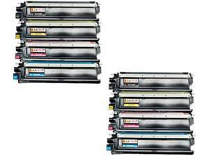8 HQ Compatible TN210 TN-210 2*TN210BK 2*TN210C 2*TN210M 2*TN210Y Toner Cartridge Set for Brother HL-3070CW HL-3075CW MFC-9010CN MFC-9120CN MFC-9125CN MFC-9320CW MFC-9325CW