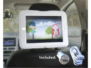 iPad Car Headrest Mount Holder for Apple iPad 4 / new iPad 3 / iPad 2 / iPad 1 Including Charger and Extra Long Cable