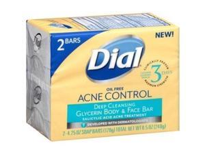 Dial Acne Control Deep Cleansing Glycerin Body and Face Bar 4.25 oz 2 count