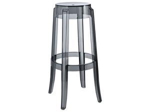 Philippe Starck Style Charles Ghost Bar Stool in Smoke