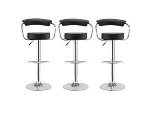 Diner Bar Stool Set of 3 in Black