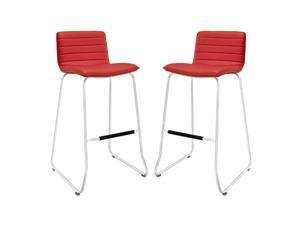 Dive Bar Stool Set of 2 in Red