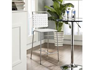 Fuse Counter Stool in White