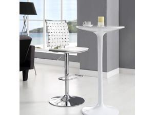 Fuse Adjustable Armless Bar Stool in White