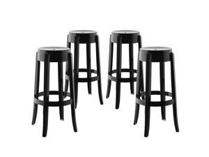 Casper Bar Stool Set of 4 in Black