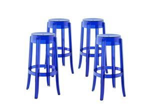 Casper Bar Stool Set of 4 in Blue