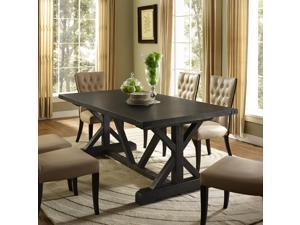 Anvil Wood Dining Table in Black
