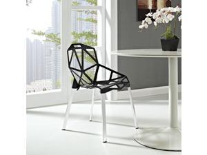 Connections Dining Side Chair in Black