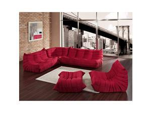 Waverunner Sectional Sofa in Red