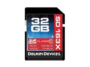 Delkin Devices DDSDPRO3-32GB 32GB Class 10 SDHC Memory Card