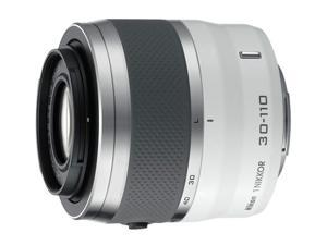 Nikon   1 NIKKOR 30-110mm f/3.8-5.6 VR White   Zoom Lens for Nikon 1 Series Cameras