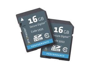 ProMaster 16GB SDHC 2-pack - Class 10 Performance Memory Card