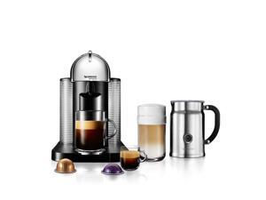 Nespresso Vertuoline GCA1 Chrome Bundle Espresso Machine w/ Aeroccino Plus