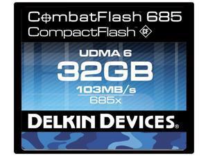 Delkin Devices DDCFCOMBAT685-32GB 32GB CombatFlash 685 UDMA 6 Compact Flash Card