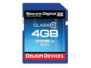 Delkin Devices DDSDPRO3-4GB - 4GB Class 10 SDHC Memory Card