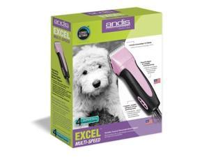 Andis Excel 5-Speed Pet Dog Animal Grooming Clipper CeramicEdge Blade Pink