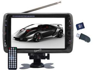 "SUPERSONIC SC-495 7"" PORTABLE TV AVI MOVIE MP3 PLAYER W/ USB, SD CARD SLOT & SWIVEL DISPLAY"