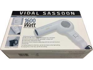 Vidal Sassoon Professional Hair Dryer UL 2-Heats/2-Speed Hanging Lightweight