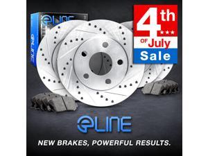Brake Rotors *FULL KIT ELINE DRILLED SLOTTED & PADS -Acura CL 1997 3.0L