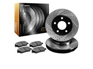R1 Concepts KPDS11242 Premier Series Drilled And Slotted Rotors And Ceramic Pads Kit - Front
