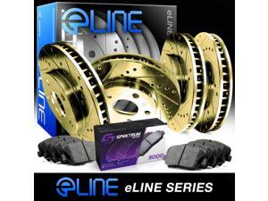 [COMPLETE KIT] Gold Drilled Slotted Brake Rotors & Ceramic Pads CGC.6304702