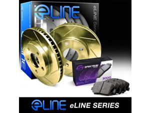 [REAR] Gold Edition Slotted Brake Rotors & Semi-Met Brake Pads RGS.6103902