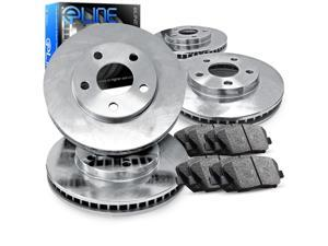 Front and Rear eLine Plain Brake Disc Rotors & Ceramic Brake Pad 2000 GTX,Galant