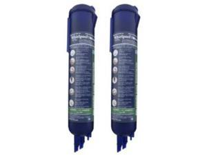 Whirlpool 4396841P Side-by-Side Refrigerator, Push Button Fast Fill Water Filter, 2-Pack