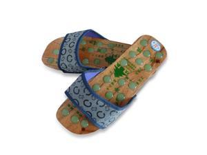 Wood Massage Slipper with Acupressure Stones for Improved Foot Care