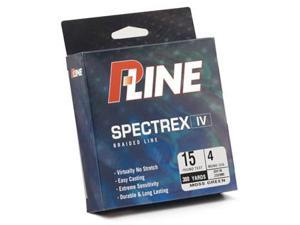 P-Line Spectrex IV Braided Fishing Line 500 Yard Spools 10# Test/Moss Green/500 Yards
