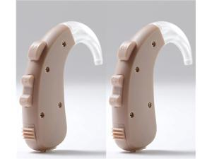 2pcs Digital BTE Hearing aids 4-CH Adjustable Tone Sound Amplifier Ear Assistance for Moderate to Severe Hearing Loss