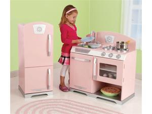 Retro Kitchen w Fridge Playset in Pink