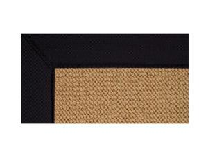 Wool Area Rug with Color Trim Border
