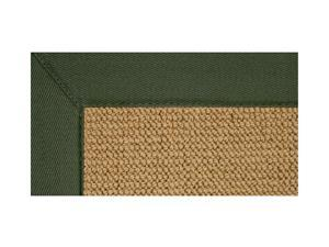 Colored Border Rug in Tufted Wool