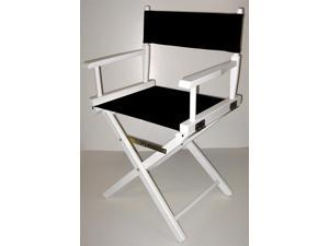 Director's Chair w White Frame & 18 in. Seat Height (Gold)