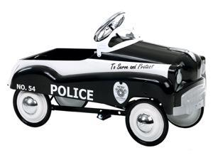 Solid Steel Police Pedal Car w Adjustable Pedal Drive