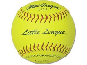 Softball - Dozen MacGregor Yellow 11-Inch with Poly Core