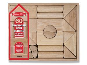 Melissa & Doug Standard Unit Natural Wood Blocks - 60 Pieces