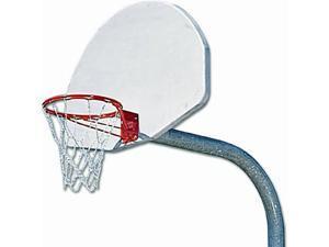 Basketball System w Aluminum Backboard & Steel Rim